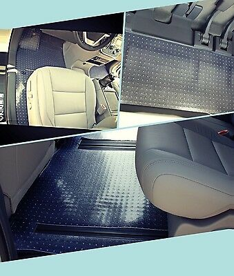 Puremats Heavy Duty Crystal Clear Floor Mats Fit For 2011-2019 Toyota Sienna