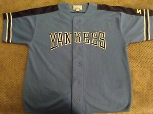 Image is loading NY-Yankees-L-Jersey-2-Color-Blues-Logo- 1682440d1e6