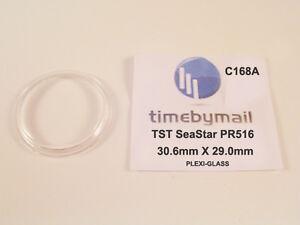 Watch Plexi-Glass Crystal For TISSOT Seastar PR516 Replacement 30.6 X 29mm C168A
