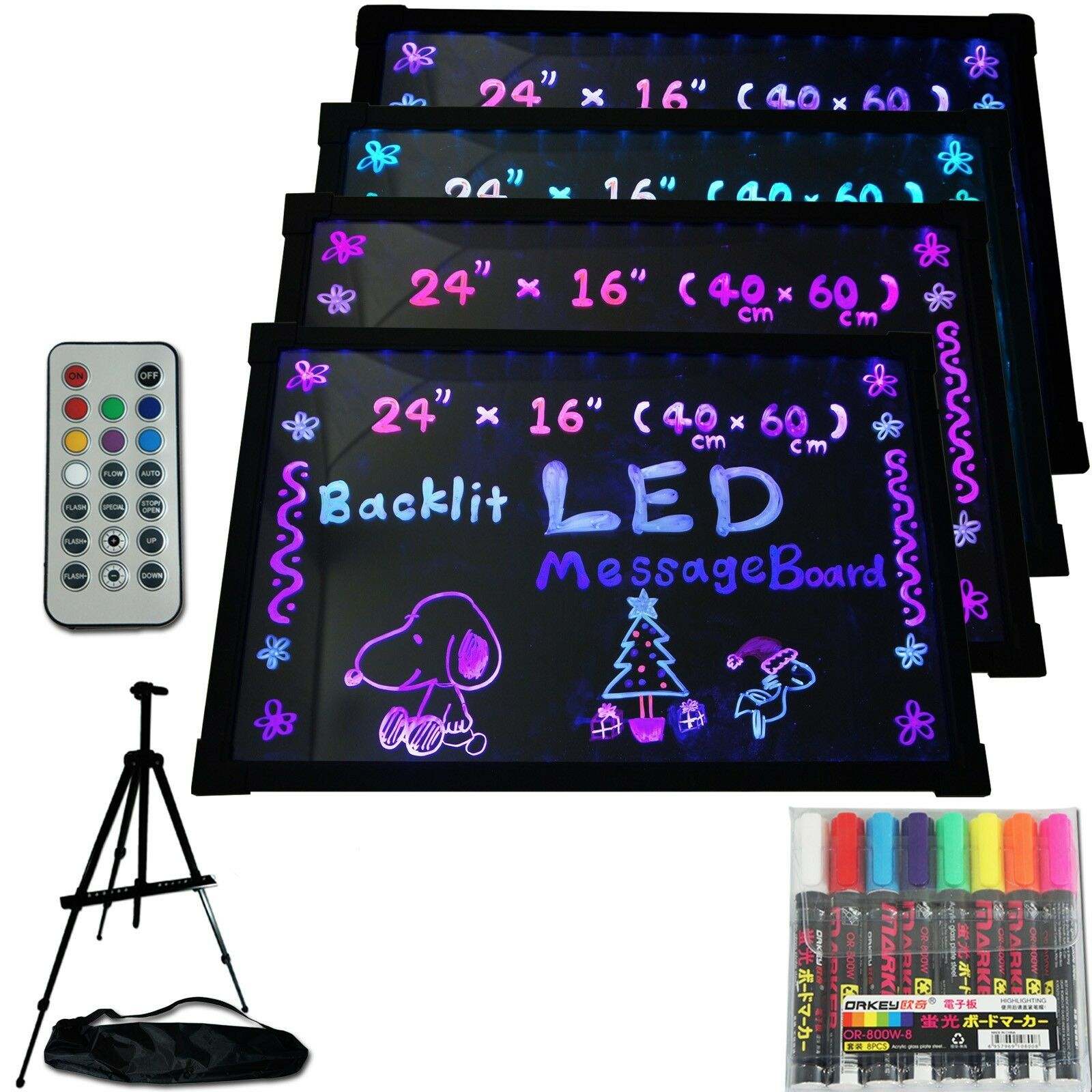 LED Menu Board 24  x 16  Message Sign display dry erase Fluorescent neon writing