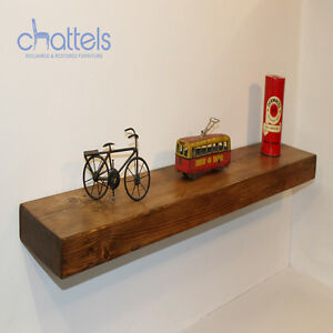 Image Is Loading Reclaimed Chunky Floating Shelves Wall Shelf Wood Rustic