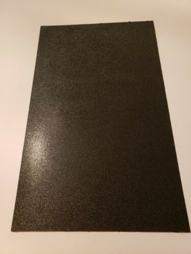 """ABS Plastic Sheet Black Vacuum Forming 1//8/"""" Thick  11 /"""" wide x 18 /"""" long  1 pc."""