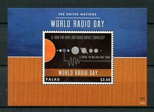 Palau 2013 MNH UN United Nations World Radio Day 1v S/S Planets Space Stamps