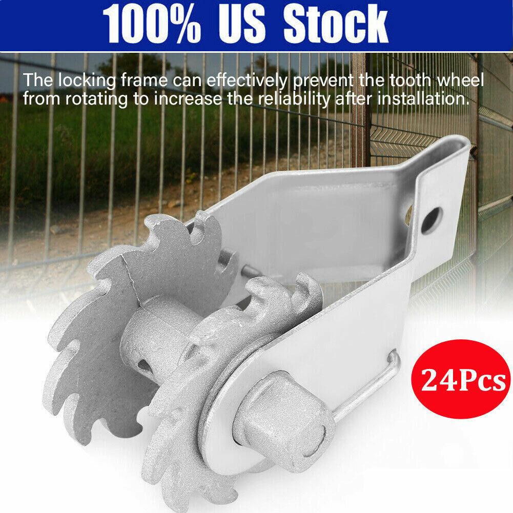 24PCS Inline Ratchet Wire Strainer Tensioner Fencing Electri