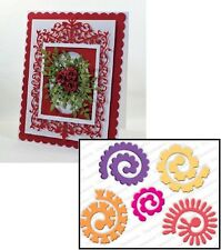 Impression Obsession SPIRAL FLOWERS LARGE Die Set DIE270-W