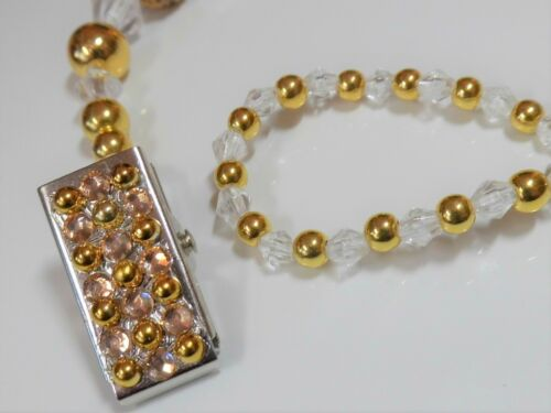 Or Shamballa Sparkle Romany Crystal Bling Baby Dummy Clip Chaîne Sangle Support