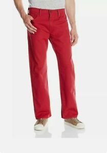 Nwt auth Levis mens jeans pants red Size:32x30