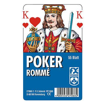 50 x 55 Blatt Ravensburger Spielkarten Poker Französisches Bild Etui 27068