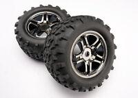 Traxxas Mounted Ss Black Chrome Wheels & Maxx Tires T/e-maxx 4983a Tra4983a