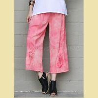OH MY GAUZE Cotton SAMMY Crop Pants 1 (S/M) 2 (M/L/XL) 3 (XL/1X/2X) WASHED CANDY