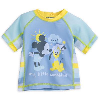 Mickey Mouse Disney Little Boys Rashguard Swimwear