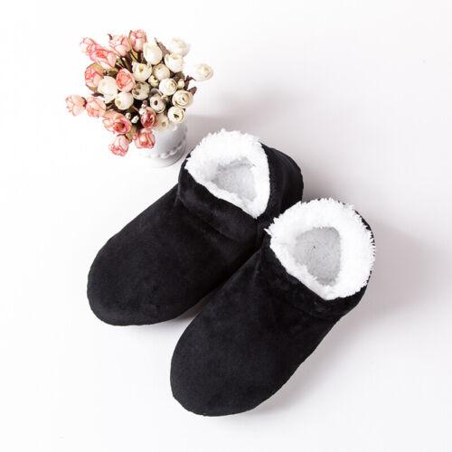 Uomo Inverno Scarpe Felpa Pantofole Stivali Calze Da Casual Antiscivolo