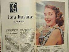 Ja-1953 This Week San Fran Chronicle Mag(JULIE ADAMS/DOROTHY WHITNEY/JANE POWELL