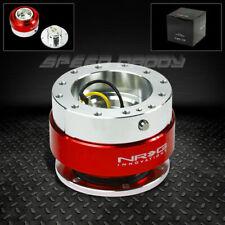Nrg Steering Wheel Short 6 Hole Gen 10 Quick Release Adaptor Kit Red Chrome