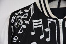 SUPER RARE SS06 Dior Homme Black White Sequins Music Note Jacket Hedi Slimane 46