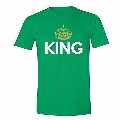 Father/'s Day gift tshirt King Crown Gold Matching Dad T-shirt Daddy Husband