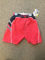 Brand Boys Black/red Draw String Size 12-14 Bathing Suit