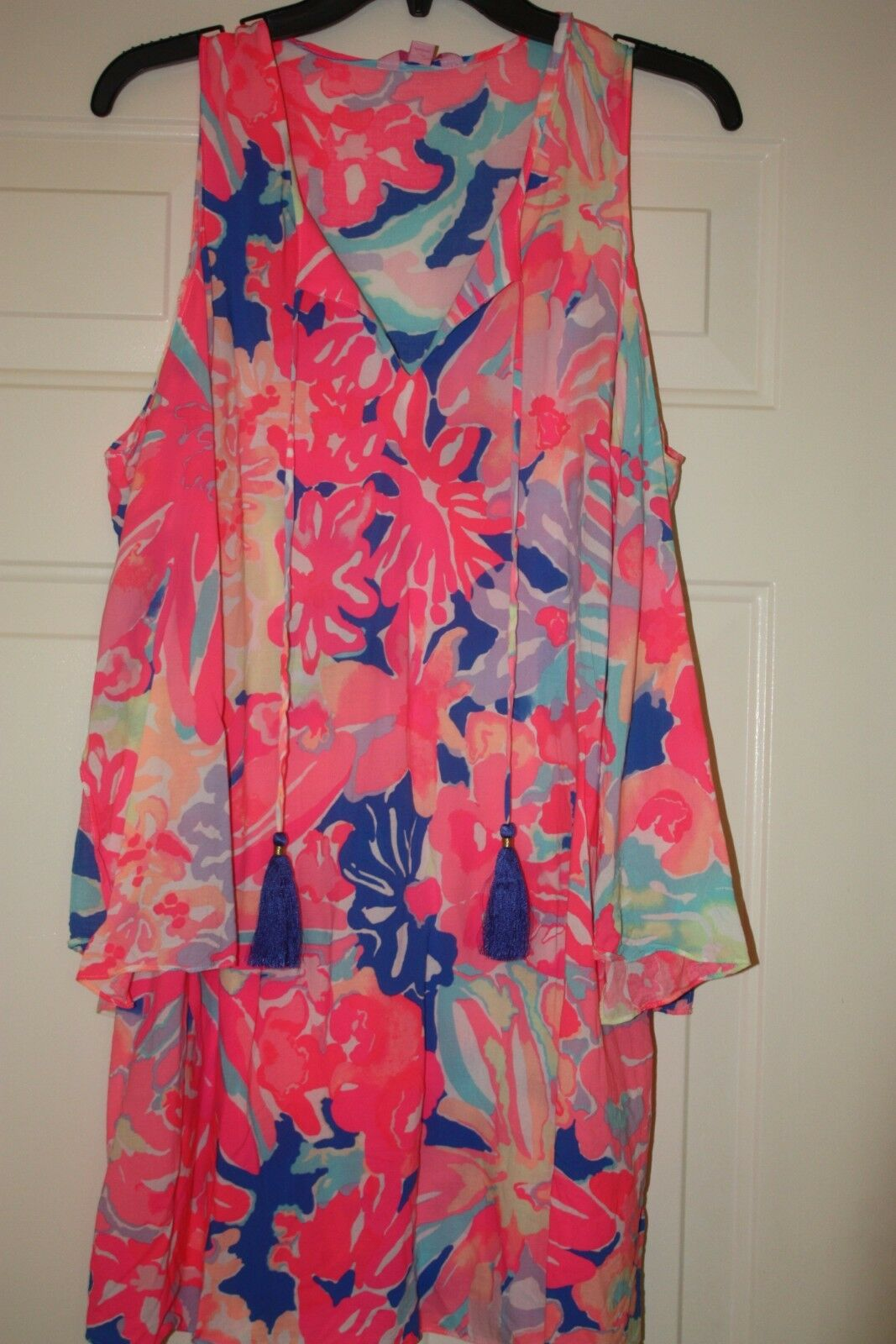 LILLY PULITZER Benicia Playa Hermosa Cold Shoulder Dress Sz S  Washed not worn