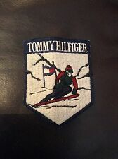 Vintage 90's Tommy Hilfiger Down Hill Skier Sewn On Patch Tommy Flag RARE!
