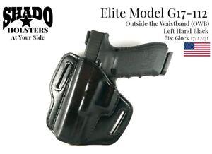SHADO Leather Holster USA Elite Model G17-112 Left Hand Black OWB Glock Brand