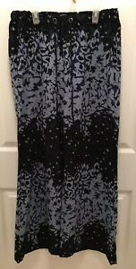 2079fab964 Jessica Simpson Piper Pants Floral Blue M Polyester Drawstring Beach ...