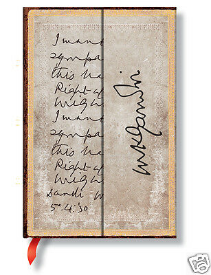 Paperblanks Writing Journal Lined Gandhi Right Againist Might Mini Size 4x5 New