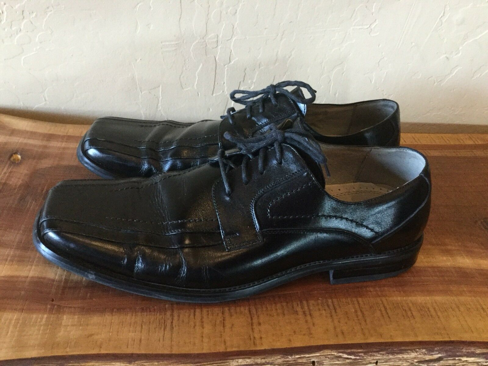 Stacy Leather Adams Men's 13M Black Leather Stacy Oxfords Dress Shoes 23274-01 //// 98535a