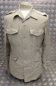 Genuine-British-ARMY-No-6-Dress-Jungle-Safari-Jacket-No-Buttons-All-Sizes