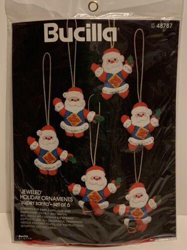 Bucilla Super Santa Jeweled Sequin Christmas Tree Ornament Kit 48787 Superman