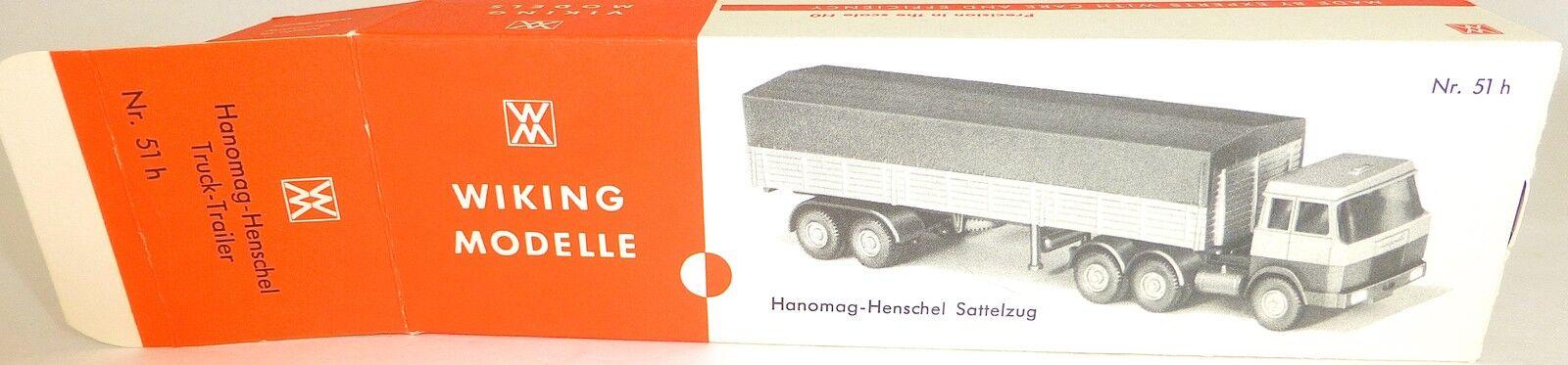 51h Hanomag Henschel Flat Semitrailer Tarpaulin Wiking Box Empty Å