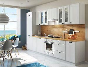 komplette Küche Schränke Küchenzeilen LORA Weiss 320 cm mit ...