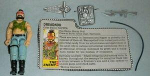 1985 GI Joe Cobra Dreadnok Biker Ripper v1 Figure w/ Grey File Card *Complete