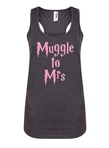 Muggle-To-Mrs-Women-039-s-Racerback-Vest-Bride-Wedding-Love-Harry-Potter-Tank-Top