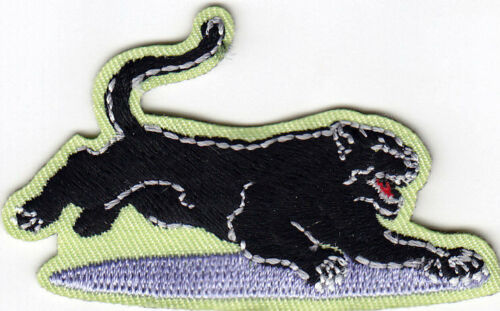 BLACK PANTER JUNGLE ANIMAL ZOO IRON ON EMBROIDERED PATCH