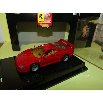 1:43 Hot Wheels Ferrari F40 1987 Scale Diecast Modellauto Miniatur OVP #9021