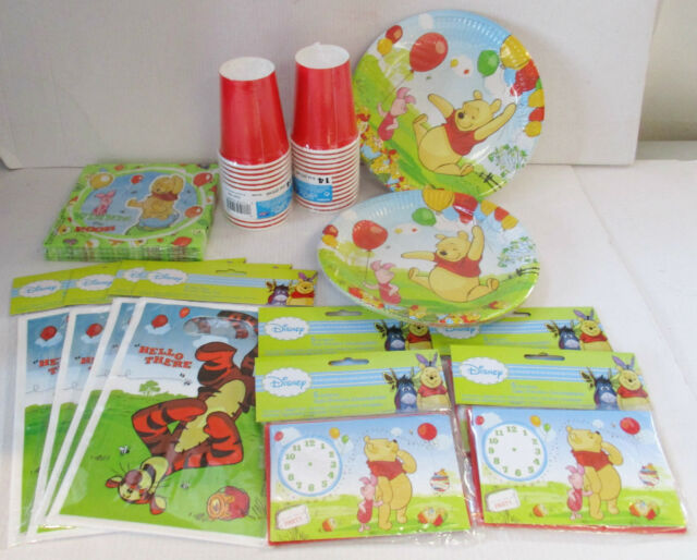 Winnie The Pooh & Piglet Party pack for 20 - Tableware Invites lootbags