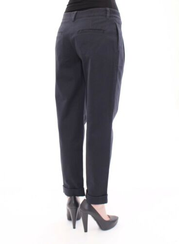 DOLCE /& GABBANA D/&G Blue Cotton Cropped Straight Jeans Pants IT38//US4 RRP $240