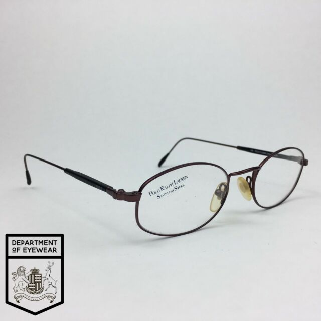 Ralph Lauren Eyeglass Copper Rectangle Wire Frame Authentic Mod Polo ...