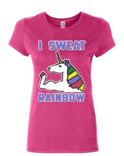 I Sweat Rainbows Hoodie Fabulous Unicorn Gym Workout Fitness Sweatshirt