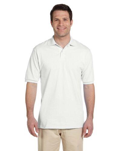 JERZEES Mens SpotShield 50//50 Sport Polo Shirt S M L XL 2XL 3XL 4XL 437MSR-437
