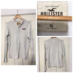 Hollister-White-Long-Sleeve-T-Shirt-Mens-Slim-Fit-C198