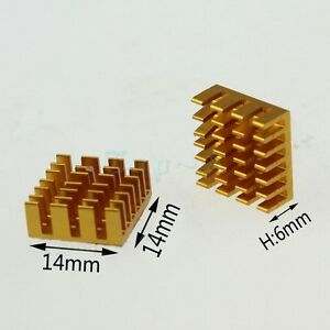 New-20pcs-golden14x14x6mm-Aluminum-HeatSink-Radiator-for-Computer-Chip