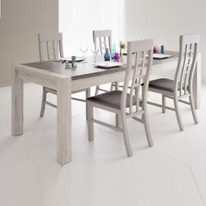 esstisch malone 31 tisch esszimmertisch k chentisch eiche steinoptik grau 180 cm ebay. Black Bedroom Furniture Sets. Home Design Ideas