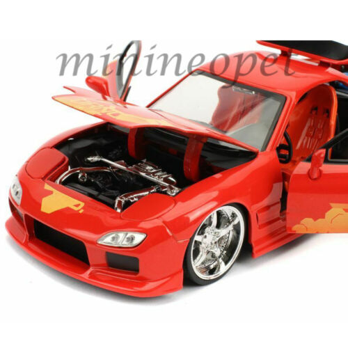 JADA 30747 FAST /& FURIOUS JULIUS MAZDA RX-7 1//24 DIECAST MODEL CAR ORANGE