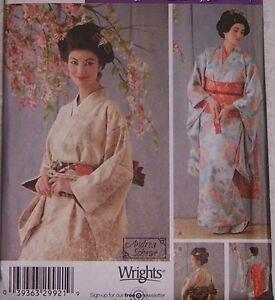misses Japanese GEISHA GIRL Kimono 14 16 18 20 pattern costume Japan dance Gesha