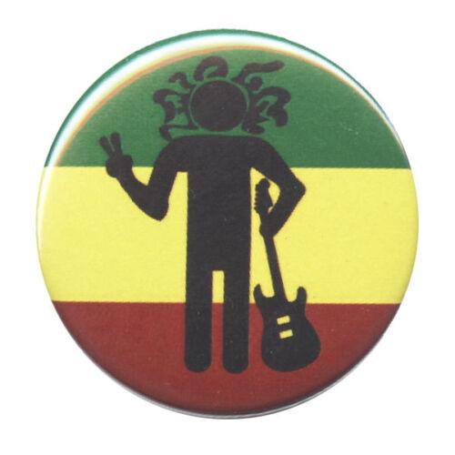 B467 Rasta Man Peace Sign Button