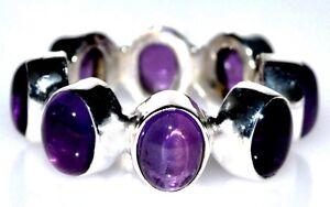 Ametista-Anelli-Eternita-Completo-anello-argento-Sterling-Naturale-Gemma-925