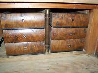 6 alte antike Schubladen Nussbaum (Eiche) für Sekretär