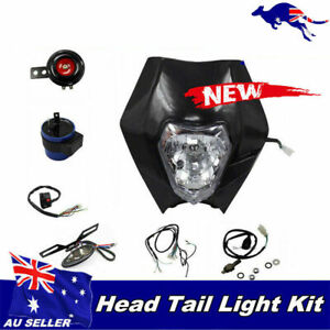 White Head Tail Light Kit Ideal 4 Rec Reg Legal Pit Dirt Trail Offroad Bike