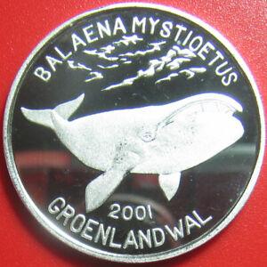 2001-KOREA-5-WON-48oz-SILVER-PROOF-GREENLAND-BOWHEAD-WHALE-SEA-WILDLIFE-RARE